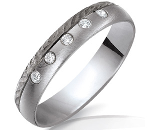 Alliance de mariage or blanc or noir création alliance