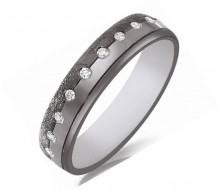 alliance or noir et blanc diamants