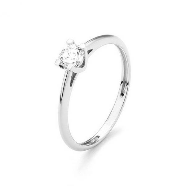 Magnifique solitaire or blanc 18 carats et diamant. Idéal pour une demande en mariage